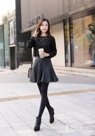 Mách nàng cách mặc áo váy đẹp cho mùa đông này