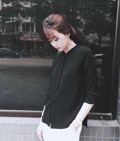 Những kiểu áo sơ mi nữ màu đen nhất định phải có