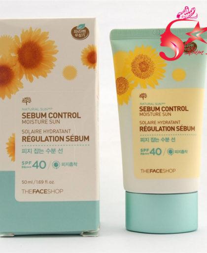 Kem chống nắng Natural Sun Eco Sebum Control Moisture Sun SPF40 TFS