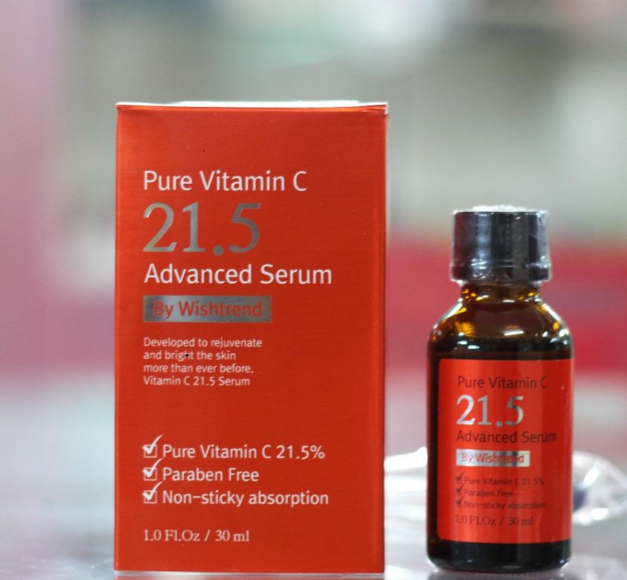 Serum trị mụn và thâm mụn se lỗ chân lông trắng da Pure Vitamin C 21.5