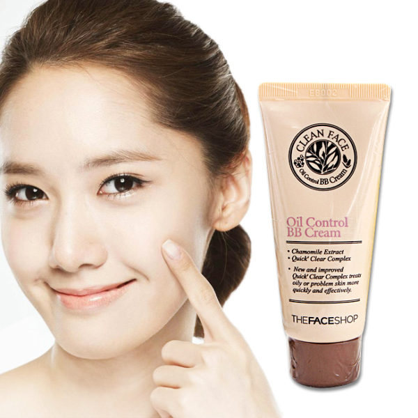 BB Cream kiềm dầu Clean Face Oil Control The Face Shop
