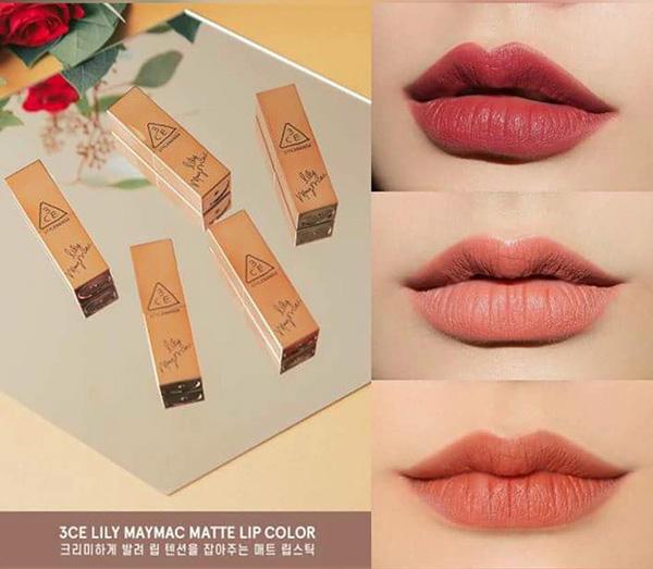 son 3CE LILY MAYMAC lip color Nude Hàn Quốc