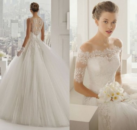 mẫu váy cưới đẹp được các cô dâu săn đón trong năm 2015