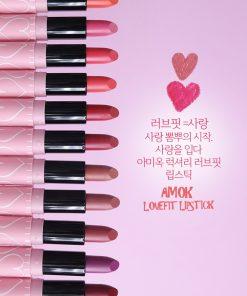 Đón thu đa sắc màu với Son môi Amok Luxyry Lovefit
