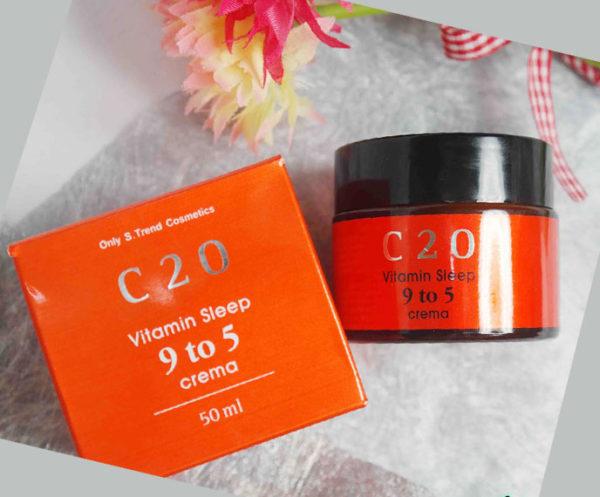 Kem dưỡng trắng da và trị mụn làm mờ vết thâm C20 Vitamin Sleep 9 to 5 Creama