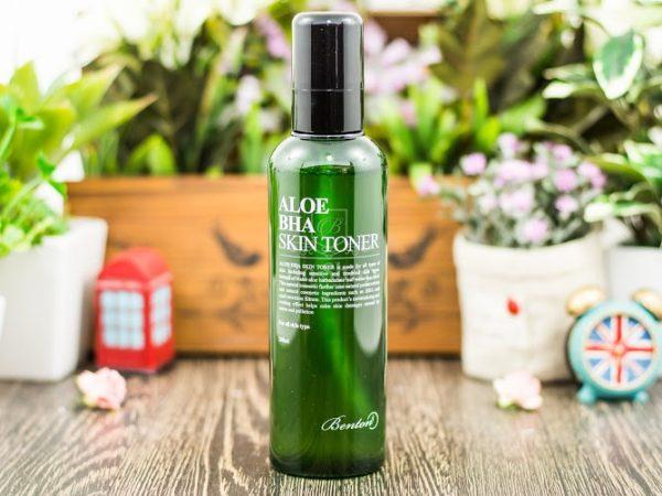 Nước hoa hồng trị mụn chiết xuất lô hội Aloe BHA Skin Toner