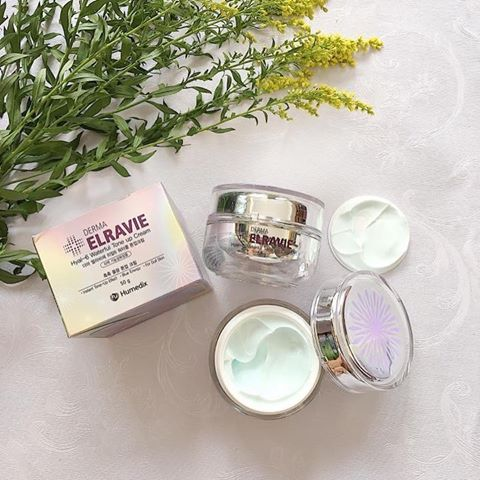 Kem dưỡng trắng trị nám Derma Elravie Hyal 6 Waterful Tone up Cream