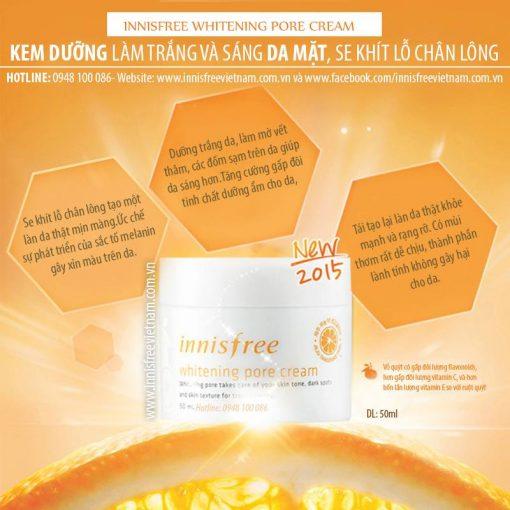 Kem-duong-trang-da-innisfree-whitening-pore-cream-8