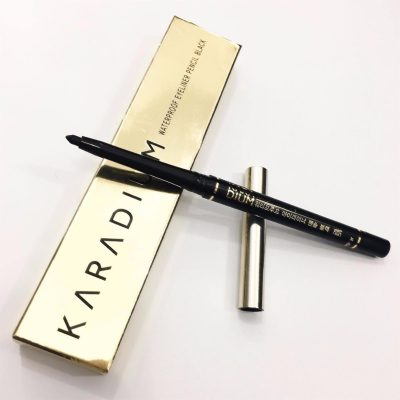 Bút chì kẻ mắt Karadium Waterproof Eyeliner Pencil Black