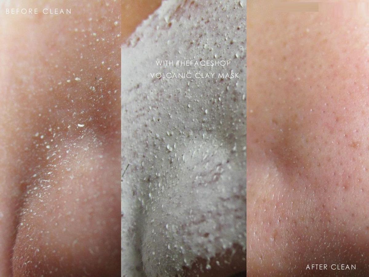Kết quả hình ảnh cho The Face shop Jeju Volcanic Lava Peel-off Clay Nose Mask review