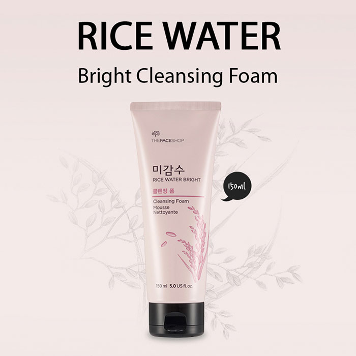 Sữa rửa mặt gạo The Face Shop Rice Water Bright Cleansing Foam
