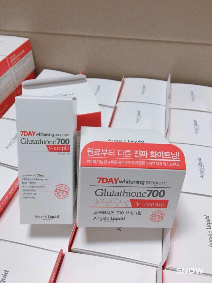 Kem Huyết Thanh 7 Day Whitening Program Glutathione 700 V-Cream
