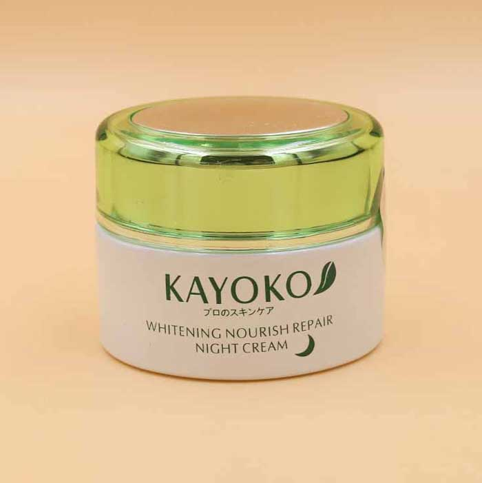 kem Kayoko whiteing nourish repair night day cream width=