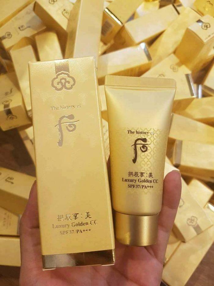 Kem Nền Whoo Mi Luxury Golden CC SPF37/PA+++