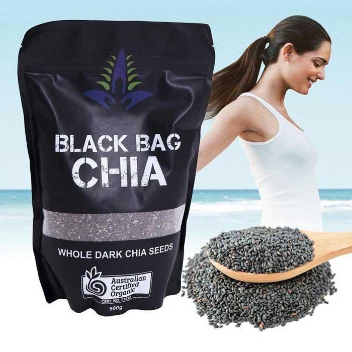 Hạt Chia Úc Black Bag Chia 500g - 【Mỹ phẩm chính hãng】