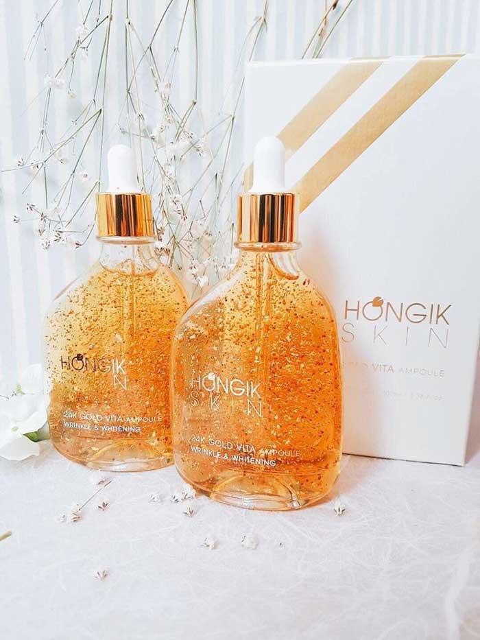 Tinh Chất Vàng Non Hongik Skin 24K Gold Vita Ampoule Wrinkle