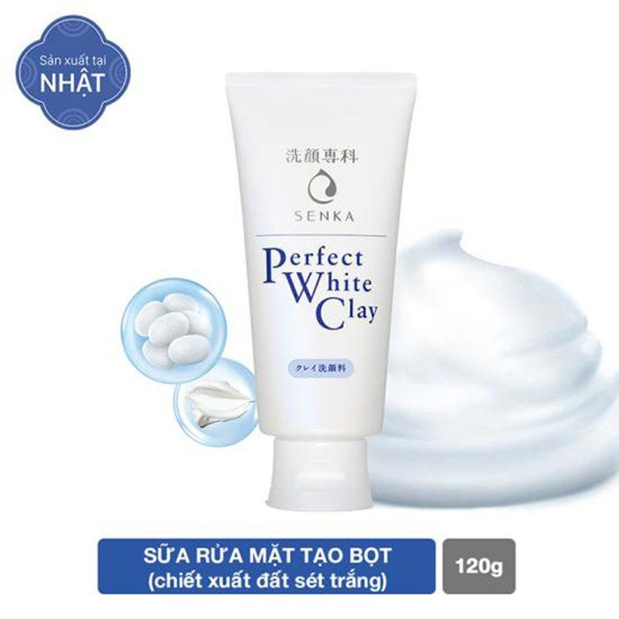 Sữa rửa mặt Shiseido Senka Perfect White Clay
