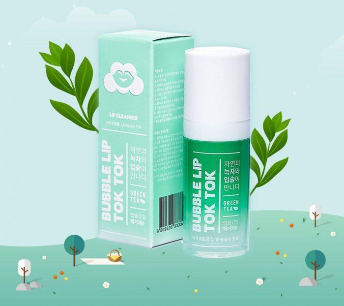 Tẩy Da Chết Môi Bubble Lip Tok Tok Green Tea