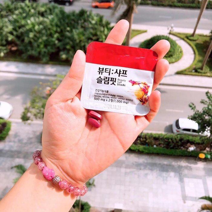 Viên uống giảm cân nhụy hoa nghệ tây Beauty Saff Slimfit