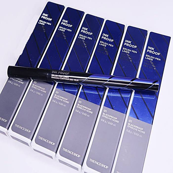 Bút dạ kẻ mắt The Face Shop Ink Proof Brush Pen Liner