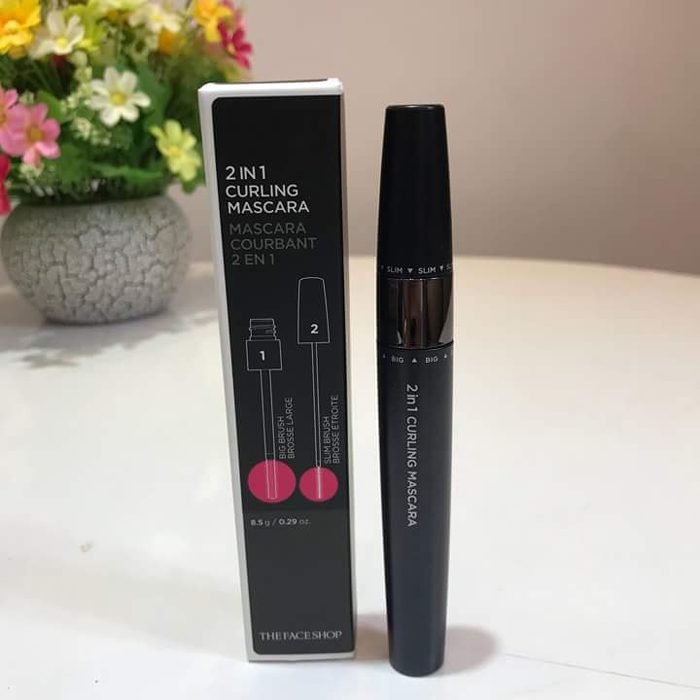 Mascara THEFACESHOP 2 IN 1 CURLING MASCARA