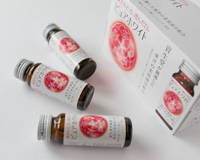 Nước uống trắng da shiseido collagen pure white