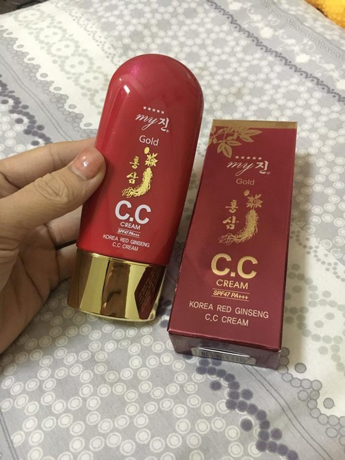Kem Nền My Gold CC Cream Korea Red Ginseng