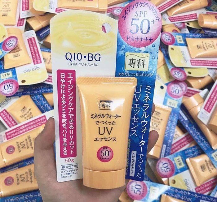 Kem Chống Nắng Shiseido Q10 Hada Senka Mineral Water UV Essence Spf 50+ PA++++