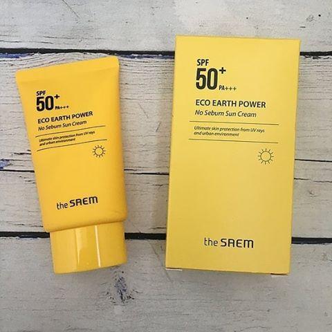 Kem Chống Nắng The Saem Eco Earth Power No Sebum Sun Cream SPF 50+ PA++++