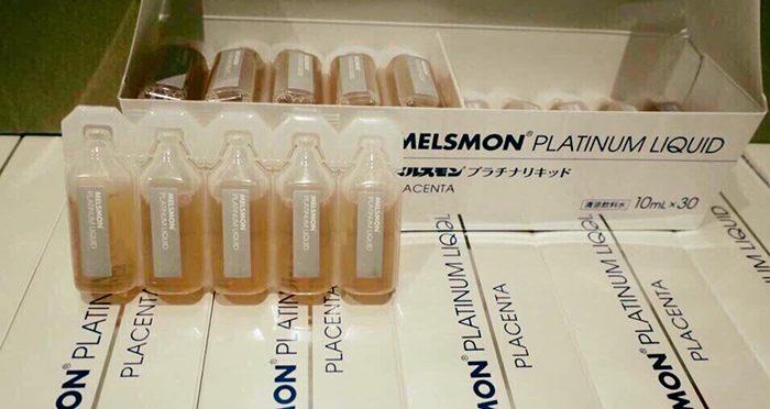 Nước uống nhau thai ngựa Melsmon Platinum Liquid Placenta